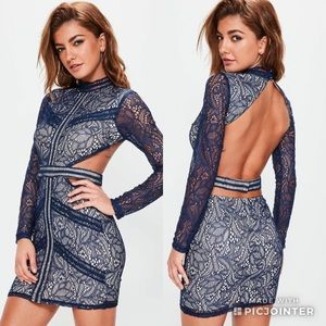 💙MISSGUIDED NAVY LACE CUT OUT BODYCON💙